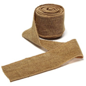 OZXCHIXU(TM) Natural Jute Hessian Burlap Ribbon Roll Belt Strap Rustic Weddings Floristry 5Mx5cm Yellowish Brown