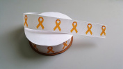 Yellow Awareness Ribbon Grosgrain Ribbon