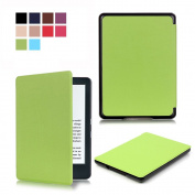 All-New Kindle 8th 2016 Smart Case, SAVYOU Premium Thinnest and Lightest Leather Smart Cover Case for Amazon All-New Kindle E-reader (8th Generation, 2016) with Auto Wake/Sleep Green