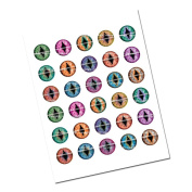 30mm Dragon or Cat Eyes Collage Sheet Circles for Jewellery Making Scrapbooking and More