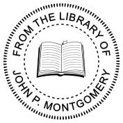 From The Library Of Embosser - Open Book Embosser - Custom Embosser