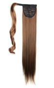 LOUISE MAELYS long straight cosplay wig ponytail hair piece party costume