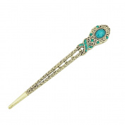 Eastlion Antique Bronze Diamond Butterfly Hairpins Hair Stick Blue