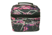 Muddy Girl Purple Pink Carry Handle Cosmetic Bag 25cm x 20cm x 20cm