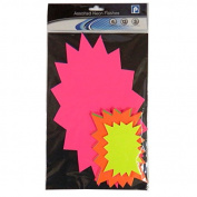 Neon Flashes Assorted Sizes Display Card - Pack of 21 - Mixed colours