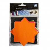 Neon Stars Display Card - Pack of 40 - Mixed colours - Size 1.2m x 1.2m - by Pennine