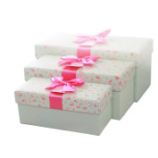Showkoo Gift Box - Fllowers Pattern Exquisite Gift Box Great For All Occasions 30cm x 14cm X5.7.6cm ,25cm x 12cm X4.13cm ,21cm x 8.9cm X3.13cm