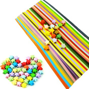 Caydo Double Sided Origami Stars Paper - 27 Colours, 1080 Sheets