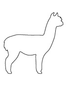 Alpacca Stencil Made From 4 Ply Matboard