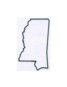 Mississippi State Stencil Made from White 4 ply Mat Board