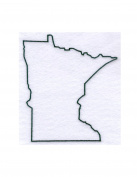Minnesota State Stencil Made from White 4 ply Mat Board