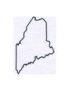 Maine State Stencil Made from White 4 ply Mat Board