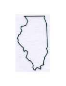 Illinois State Stencil Made from White 4 ply Mat Board