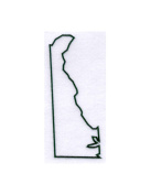 Deleware State Stencil Made from White 4 ply Mat Board