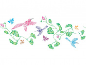 Hummingbird Stencil - (size 50cm w x 22cm h) Reusable Wall Stencils for Painting - Best Quality Wall Bird Animal Stencil Ideas - Use on Walls, Floors, Fabrics, Glass, Wood, Terracotta, and More...