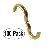 100 Pack Narrow Picture Rail Hooks Brass Finish | Moulding Hooks