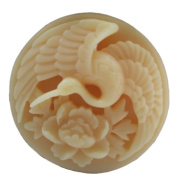 Grainrain Silicone Soap moulds Bird Swan and Peony Round White DIY Craft Art Handmade Cold Process Soap Making Mould.