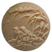 Grainrain Silicone Soap moulds Bird Mandarin Duck Round White DIY Craft Art Handmade Cold Process Soap Making Mould.