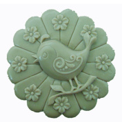 Grainrain Silicone Soap moulds Happy Bird Round White DIY Craft Art Handmade Cold Process Soap Making Mould.