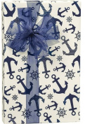 Blue Nautical Anchor All Occasion Gift Wrap Wrapping Paper Large 4.6m Roll