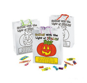 Colour Your Own Christian Pumpkin Gift Bags