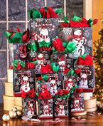 42-Pc. Chalkboard Snowmen Gift Bag Sets