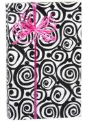 Bohemian Black Swirls on White Gift Wrap Paper 4.6m Roll