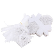 ULTNICE 50pcs Hollow Butterfly Style Gift Candy Boxes for Wedding Gathering Favour White