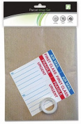 Parcel Wrapping Pack - 8.4m x 11m - 3 Brown Sheets, Labels and Tape