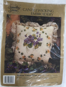 "Something Special Candlewicking Embroidery ""African Violets Pillow"""