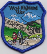 The West Highland Way Walk Scotland Embroidered Badge