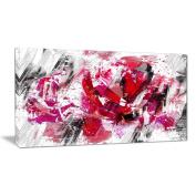 Digital Art PT3413-40-20 Red Rose Art Floral Canvas Art