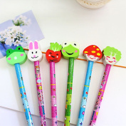 10pcs/set mixture come with Cartoon animal eraser typs Pencils/ Drawing Pencils for Sketch/Secret Garden Colouring Book