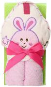 Kidiway Hooded Towel, Pink Rabbit