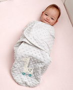 Plush Baby Swaddle with Giraffe Applique