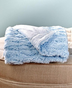 Faux Fur Sherpa Backed Baby Blanket