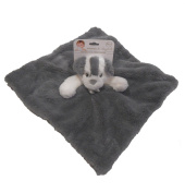 Blankets & Beyond Nunu, Grey and White Puppy, Security Blanket