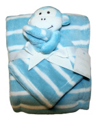 Hugging Palz 2 Piece Gift Set, Monkey Blue