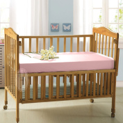 Taihu Snow 100% Mulberry Silk Fitted Sheet for Baby Crib Bed, Pink