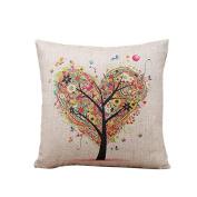 SMTSMT Linen Square Throw Flax Pillow Case Decorative Cushion Pillow Cover,46cm x 46cm