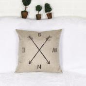 SMTSMT Compass Linen Throw Pillow Case Cushion Cover Home Decor,46cm x 46cm