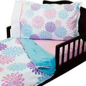 3pc Beautiful Blossoms Toddler Bedding Set Blanket Sheet and Pillowcase Set