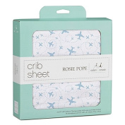 Rosie Pope® and aden + anais®100% Cotton Muslin Aeroplane Fitted Crib Sheet