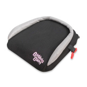 Booster Seat in Black by BubbleBum® , Fits children from 18-45kg. and up to 140cm tall. 3-point harness system.