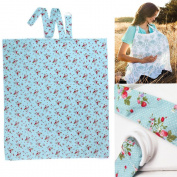 Breast Feeding Nursing Cover - Breast Feeding Nursing Cover with Soft Terry Burp Cloth Pockets