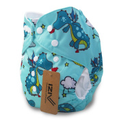 iZiv(TM) Newborn Organic with 1 Thick Insert Infant Waterproof/Adjustable/Reusable/Washable Pocket Cloth Nappy Fit Babies 0-3 Years