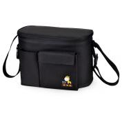 eonkoo Baby Nappy Tote Bag Waterproof Insulation Stroller Mummy Shopping Handbag with Bottle Pockets Shoulder Bag