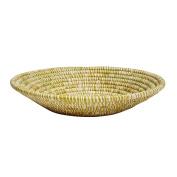 Brown Raffia Basket 'Dots in a Row Bread Basket'