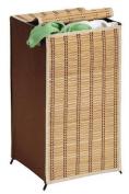 Honey Can Do Tall Bamboo Wicker Weave Hamper