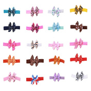 DUOQU Baby Girl's Soft Headbands Hairband With Bows Boutique Ribbon Hair Accessories Multicolor 20 Pcs